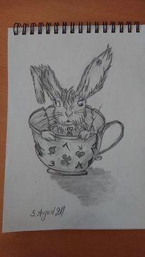 Geschichte, Alice im wunderland, Mein märzhase, Zeichnungen