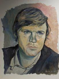 Portrait, Malerei, Jung, Mann