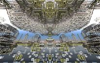 Universum, Abstrakt, Stadt, Digitale kunst