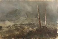 Landschaft malerei, Abstrakt, Dystopisch, Düster