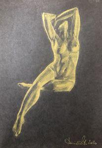 Aktmalerei, Zeichnen, Weiblich, Studie