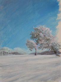 Vorstudie, Licht, Schnee, Schwarzwald