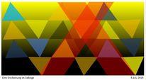 Arrangement, Dreiecke, Konkrete kunst, Digitale kunst