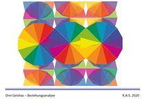 Kreisetüden, Farbexperimente, Farbkreis itten, Konkrete kunst