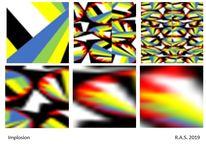 Strahlen, Repetitionen, Vergrößerung, Digitale kunst