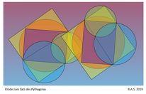 Pythagoras, Transparenz, Konkrete kunst, Digitale kunst