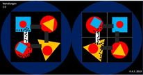 Stahlkugeln, Dreieck, Zwischenraum, Quadrat