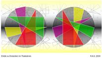 Thaleskreis, Dreiecke, Konkrete kunst, Digitale kunst