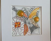 Aquarellmalerei, Zeichnung, Blüte, Gekritzel