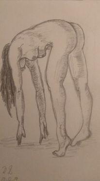 Frau, In bewegung, Akt, Zeichnungen