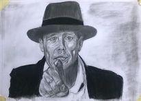 Beuys 2, Bleistiftzeichnung, Din a3, Zeichnungen