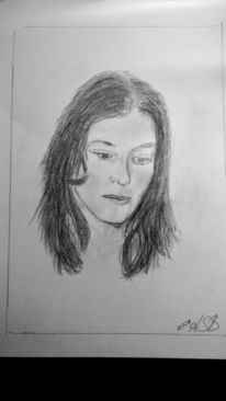 Frau, Bleistiftzeichnung, Skizze, Zeichnungen