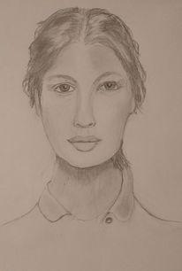 Bleistiftzeichnung, Frau, Mädchen, Zeichnungen