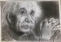 Einstein, Menschen, Bleistiftzeichnung, Zeichnungen