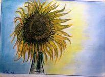 Herbst, Sonne, Polychromos, Zeichnungen