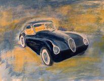 Jaguar, Gouachemalerei, Malerei,