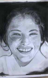 Bleistiftzeichnung, Mädchen, Zeichnungen,