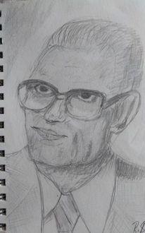 Mann, Vater, Bleistiftzeichnung, Zeichnungen