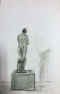 Bleistift kreide, Skulptur von klinger, Skizze, Zeichnungen