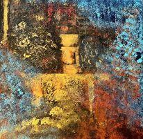 Abstrakt, Spachteltechnik, Mystik, Malerei