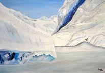 Alaska, Acrylmalerei, Gletscher, Malerei