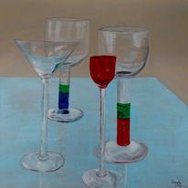 Glas, Stillleben, Acrylmalerei, Malerei