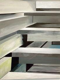 Architektur, Treppe, Acrylmalerei, Malerei