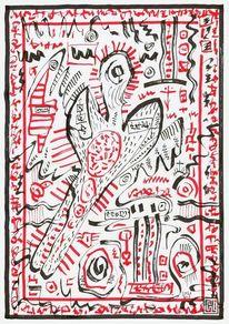 Abstrakt, Zeichnung, Modern art, Rot