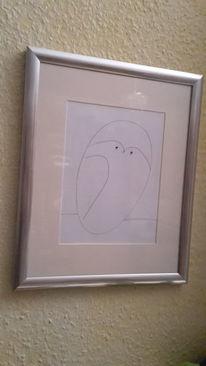 Linie, Picasso, Eule, Zeichnungen