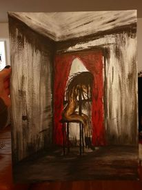 Akt, Frau, Acrylmalerei, Menschen
