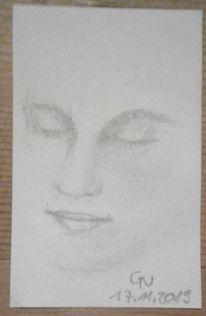 Portrait, Gesicht, Frau, Licht