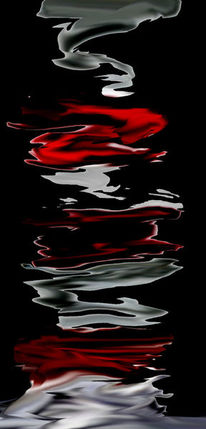 Rot, Whitegrau, Schwarz, Digitale kunst