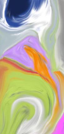 Orange, Rot, Violett, Digitale kunst