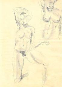 Aktzeichnung, Kunststudium, Martha krug, Dreissiger jahre
