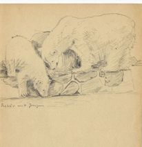 Martha krug, Leipziger zoo, Ca siebziger jahre, Eisbär