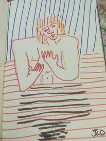 Menschen, Akt, Zeichnungen stift, Zeichnungen