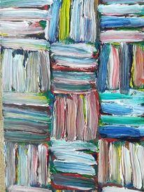 Ölmalerei, Holz, Abstrakt, Malerei