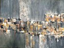 Acrylmalerei, Grau, Malerei