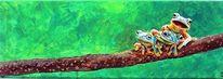 Acrylmalerei, Tiere, Frosch, Malerei