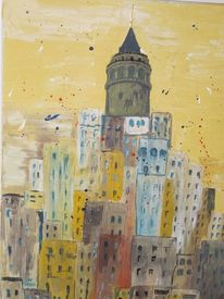 Istanbul, Acrylmalerei, Architektur, Malerei