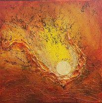 Landschaft malerei, Malerei acrylmalerei, Sonne, Struktur