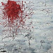 Abstrakte malerei, Modern, Menschen, Zerstörung verzweiflung