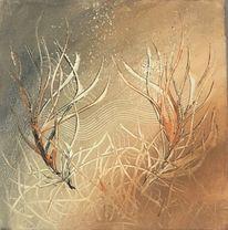 Unterwasserwelt, Abstrakte pflanzen, Abstrakte malerei, Abstraktes gemälde