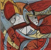 Bunt abstrakt, Tiere abstrakt, Abstrakt malerei, Abstraktes gemälde