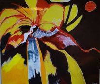 Vulkan, Frau, Gelb, Malerei