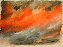 Wolken, Tod, Aquarellmalerei, Wald