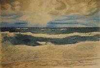 Wasser, Pastellmalerei, Meer, Himmel