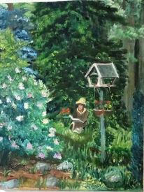 Entspannung, Garten, Frühling, Blumen