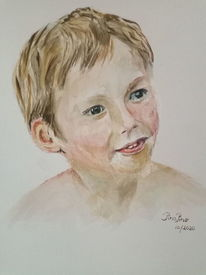 Portrait, Aquarell