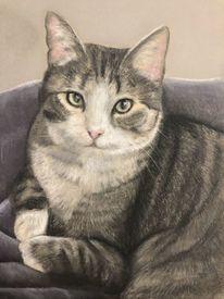 Figur, Katze, Malerei